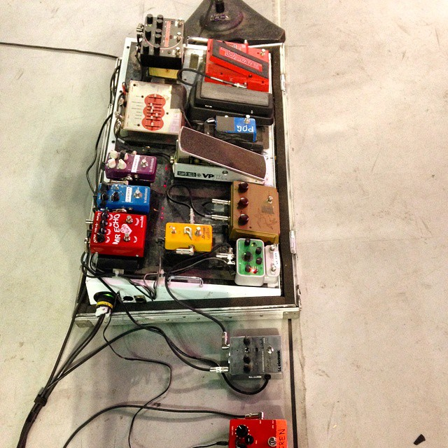Joe Perry - Pedalboard - Aerosmith