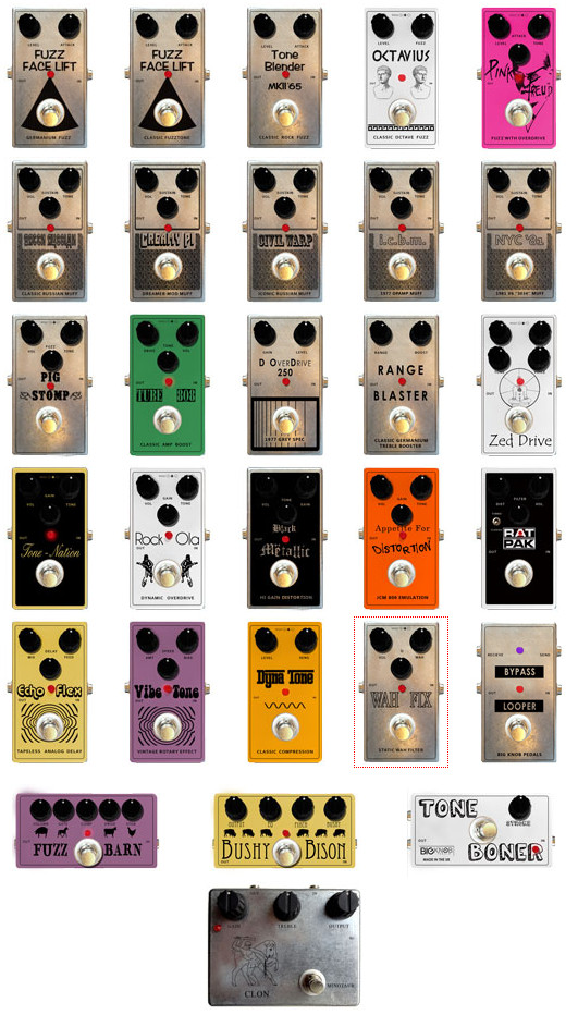 big knob pedals all pedlas